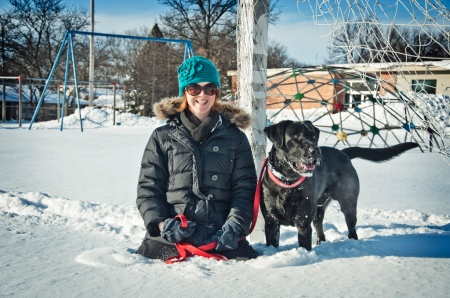 Portage Women Abandon fashion and style to battle cold weather
