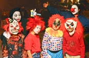 Bus kids out of Portage la Prairie for Halloween