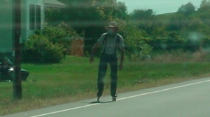 Patrik Laine rollerblades in Amish country